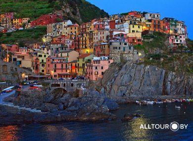 Лигурийское побережъе Италии.
