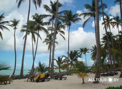 Пляж нашего отеля в Доминикане